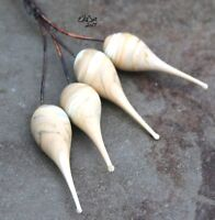 Latte - Handmade Glass Lampwork Headpins SRA MTO - Choose Etched or Glossy