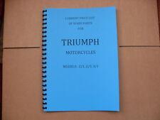 TRIUMPH PRE-WAR PARTS BOOK FOR 1934-35. 2/1, 2/5, 3/1.  SINGLES