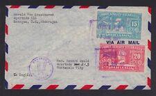 NICARAGUA 1943 DIA DE LA RAZA AIRMAIL COVER MANAGUA TO GUATEMALA CITY GUATEMALA