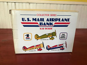 U.S. Mail #102 Airplane 1/32 Scale Die Cast Bank in Box!!