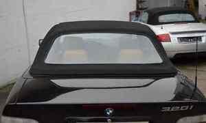 BMW E36 Cabrio Heckscheibe PREMIUM !! mit Reißverschluss