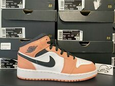 Nike Air Jordan 1 Mid GS Pink Quartz 555112-603 Youth Size 3-7
