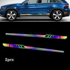 2Pcs Sports Racing Car Graphics Both Side Body Vinyl Long Stripe Decal Stickers