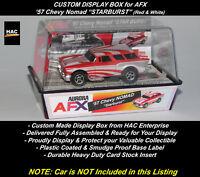 "Custom Display Case : AFX  '57 Chevy NOMAD ""STARBURST"" (Red & White)"