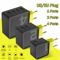 ROCK Sugar US/EU Plug 1/2/4 USB Wall Phone Charger Fast Adapter for Cell Phone