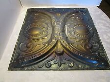 Antique Victorian Ceiling Tin Metal Wall Tile panel Reclaimed 24 ½�' x 24 ½� 3D