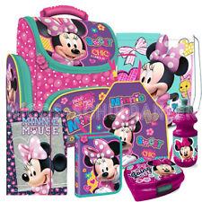 Minnie Mouse Maus Schulranzen Ranzen Schultasche Set 7 tlg. mit Bastelschürze