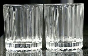 2 BRAND NEW STOLI STOLICHNAYA RUSSIAN VODKA RIBBED TUMBLERS HEAVY ROCKS GLASSES