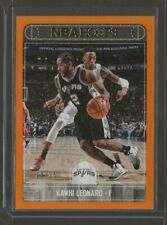 2017-18 Panini NBA Hoops Kawhi Leonard Orange 14/25 #192 San Antonio Spurs