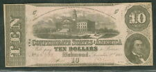 """1862, T52, $10, Capitol at Columbia, S.C., """"3 Series"""" """"Printed by B. Duncan"""" Xf"""
