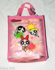 """NEW W/TAGS ~ POWERPUFF GIRLS~ PINK   VINYL CARRY TOTE BAG  12"""" X 10"""""""