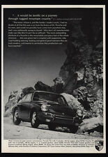 1967 PORSCHE 911 / 911S / 912  Sports  Car - Rugged Mountain Driving VINTAGE AD