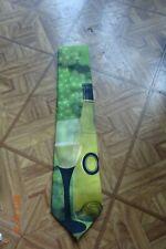 Vintage 1996 vino temática Ralph Marlin vino Bodegón Verde Mans Corbata