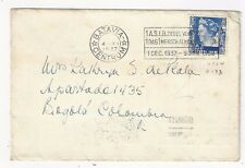 1937 Batavia Indonesia Netherlands Indies to Bogota Colombia Scarce Destintion