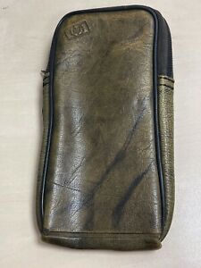 Vintage HP calculator brown leather case (Stamped with HP logo)