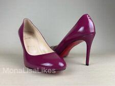 New Christian Louboutin Bordeaux Red 85 Simple Pumps Shoes Heels 38