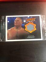 2013 Brock Lesnar Mat RELIC Card Topps Summer Slam WWE Wrestling
