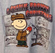 Peanuts A Charlie Brown Christmas Men's Gray Shirt Large TV COMIC STRIP