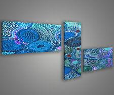 Quadri moderni astratti 180 x 70 stampe su tela canvas con telaio MIX-S_121