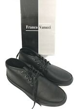FRANCO VANUCCI Mens Black Dress Boot Style Shoes Size US 12 M NEW WITH BOX