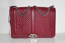 Rebecca Minkoff Geo Quilted Love Jumbo Leather Crossbody Shoulder Bag Handbag