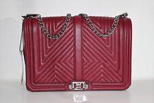 Rebecca Minkoff Geo Quilted Love Jumbo Leather Crossbody Shoulder Bag Handbag