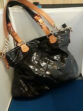 Women's Black Patent Leather Quilted Purse By CAVALCANTI Made In Italy