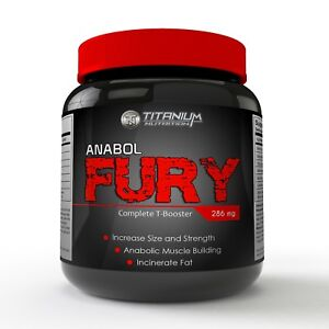 ANABOL FURY -- STRONGEST LEGAL TEST BOOSTER -- DOUBLE STRENGTH -- 30 CAPSULES