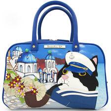 Braccialini Cats & Travels theme creative Bowler bag with handmade appliques