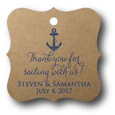 24 Thank you for sailing with us! Personalized Wedding Favor Tag