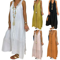 Plus Size Women's Summer Ladies Casual Long Maxi Dress Summer Holiday Sundress