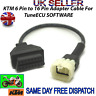 KTM 6 PIN TO 16 PIN ADAPTOR ADAPTER INTERFACE CABLE - TRIUMPH KTM BIKE TUNEECU