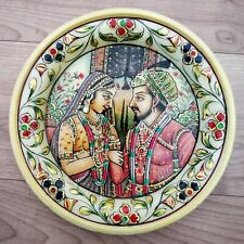 "Decorative plates 6"" Marble Stone Handmade mumtaz and shahjahan painting Wall"