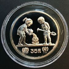 China - Silver 35 Yuan Coin - International Year of the Child - 1979 - Proof
