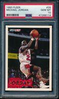 PSA 10 MICHAEL JORDAN 1993-94 93-94 Fleer #28 Chicago Bulls HOF RARE GEM MINT