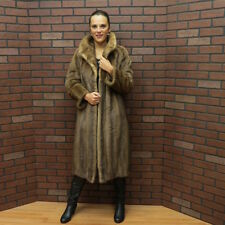 SALE!! QUALITY! VTG - real genuine SABLE PASTEL BROWN MINK FUR COAT! M - free sh