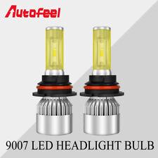 Pair 9007 HB5 LED Headlight Bulbs Dual Color White 6K Amber 3K Hi/Lo Beam S8_SIR