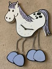 Rare Chain Gang Hanging Horse Wall Clock horse lover equestrian