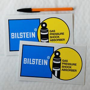 Bilstein Bilstien 163mm stickers decals pair Motor Race Rallying Rally