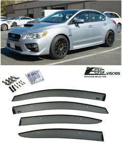 For 15-21 Subaru WRX & STi JDM CLIP-ON Style Side Vents Sun Shade Rain Guards