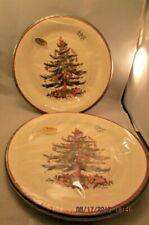 Spode CHRISTMAS TREE Packs Of 8 Paper Dinner Plates lot of 2 TW1-2021 C R Gibson
