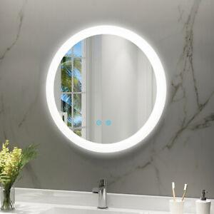 LED Badspiegel Badezimmerspiegel Rund LED Beleuchtung 60cm Touch Beschlagfrei