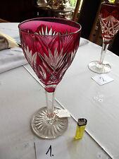 Glas, Prunkglas, groß, geschliffen, farbig, Römer, Kullerpfirsich, alt, Nr. 1