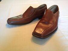 Stacy Adams Men's Hillman Cognac Brown Leather Slip On Dress Shoes Size 10 M