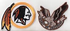 Indian und Spirit of Freedom Eagle Patch Aufnäher Aufbügler 2 Stück NEU