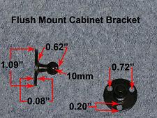 RV Bus Van Trailer Gas Strut Round Flush Mount Door Plate Ball Stud Bracket 10MM