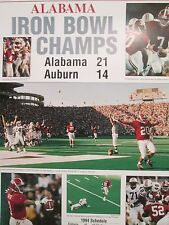 ALABAMA FOOTBALL 1994 IRON BOWL CHAMPS POSTER FROM THE BHAM POST HERALD