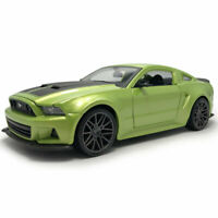 2014 Ford Mustang Street Racer 1:24 Model Car Diecast Vehicle Collection Green