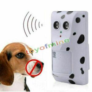 Voice Sensor Ultrasonic Deterrent Anti Bark Dog Stop Barking Training Control AU