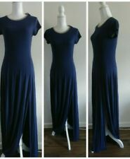 Michael Kors Knit Maxi Dress Womens Size Small Navy Blue New Stretchy Flowy S